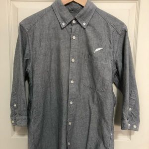 Publish button Casual Gray Shirt SZ S